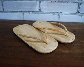 Antique Japanese Zori Sandals flip flops 1920s