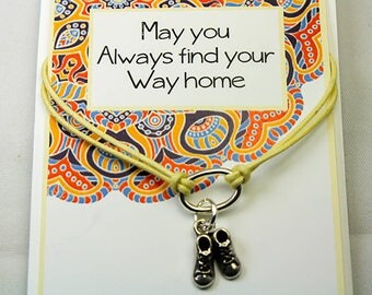 Graduation Gift - New Adventure - May you always Find Your Way Home - Travel Gift - Inspirational Charm Bracelet - INT002