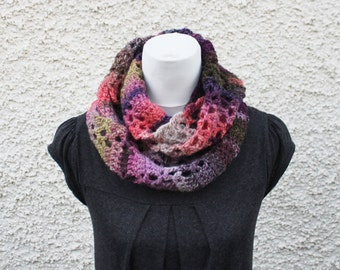 SCARF infinity - Purple haze scarf, womens knitwear UK, gift for her