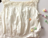 Victorian Chemise, Vintage Victorian Chemise, Antique Ladies Chemise, Vintage Ladies Undergarment, Creamy White Cotton Chemise