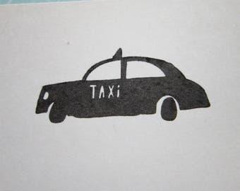 rubber stamp - TAXI stamp - taxi rubber stamp