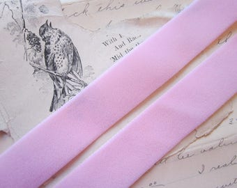 3 yards velvet ribbon - pink - 7/8 inch wide
