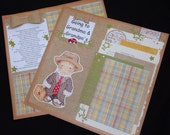 Boy or Girl Going to grandma and grandpa's 12x12 Double page Premade Scrapbook Layouts