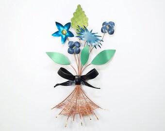 Metal Flower Bouquet– Wall Art- Valentine's Gift
