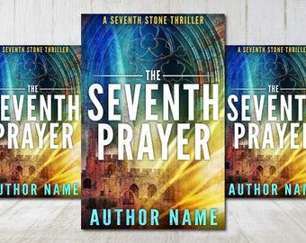 "Premade Digital eBook Book Cover Design ""The Seventh Prayer"" Thriller Suspense Mystery New Adult Fiction"