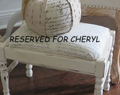 RESERVED FOR CHERYL   Vintage Shabby Chic Stool