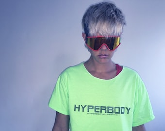 Blacklight friendly HYPERBODY Crop Tee