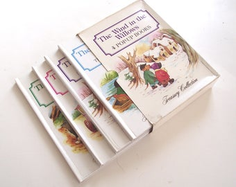 Wind in the Willows Pop-Up Book Set, 4 Vintage Books from 1988 (L1)