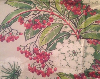 Vintage Kandell Design Chintz Fabric Floral Berries