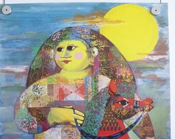 Bjorn Wiinblad print poster original 1001 Nats Arabian Nights