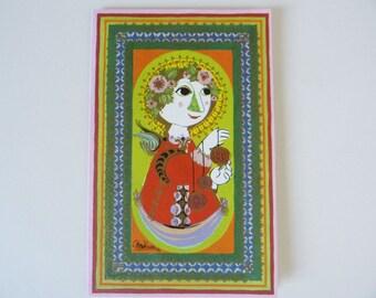Bjorn Wiinblad small Greetings card vintage