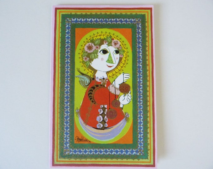 Bjorn Wiinblad small Greetings card vintage