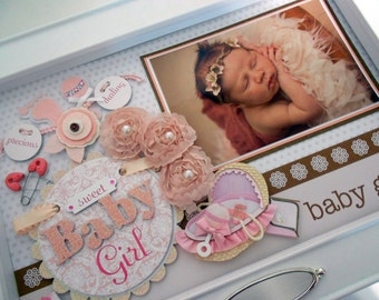 PRECIOUS DARLING Baby Keepsake Box with Engraved Name Plate