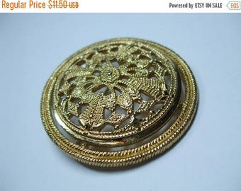 SALE 50% OFF Vintage Monet Filigree Domed Brooch