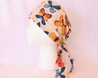 Nurse, Doctor, Tech, Vet, Scrub Hat - Surgical Hat - Butterflies - Pediatric