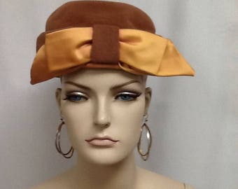 Vintage Kutz Hat With Satin Bow