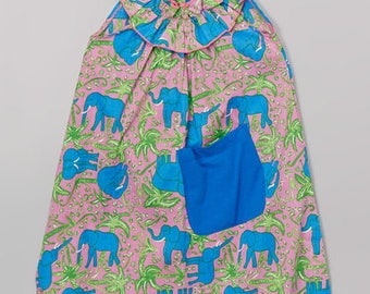 Royal Elephant Pocket Yoke Dress