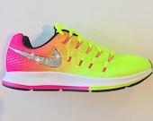 Bling Nike Shoes with Swarovski Crystals * Nike Air Zoom Pegasus 33 OC Olympic 2016 Bedazzled w/100% Authentic Swarovski Crystal Rhinestones