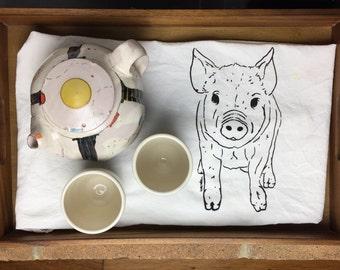Pig flour sack towel