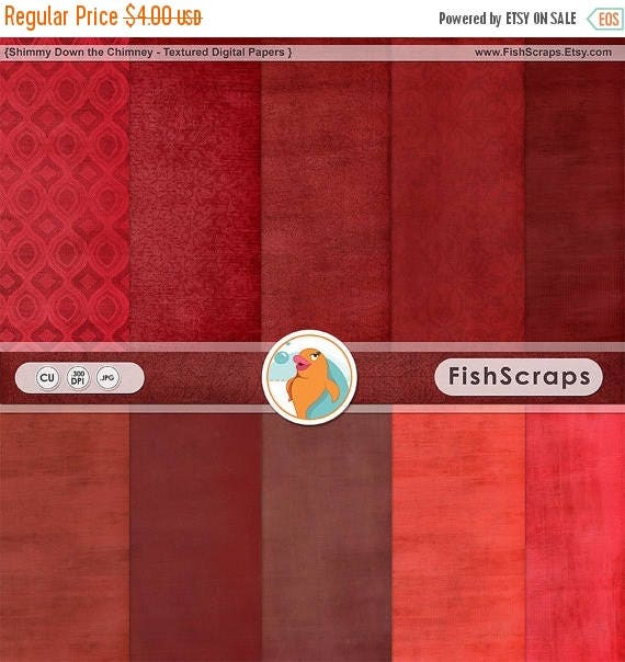 75% SALE Red Digital Paper, Romantic Valentine Backgrounds, Textured Digital Card Stock, Rouge Solid Background Paper, Red Christmas