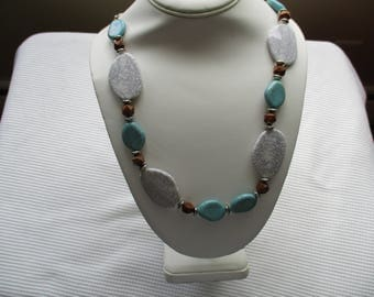 Turquoise and Gray necklace