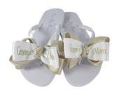 Mother of the Bride Flip Flops, Bride's Mom, Groom's Mom Flip Flop Sandals Shoes for the Wedding- Light pink/ choose colors