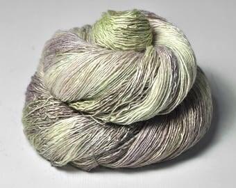 Droughty heathland OOAK - Tussah Silk Lace Yarn