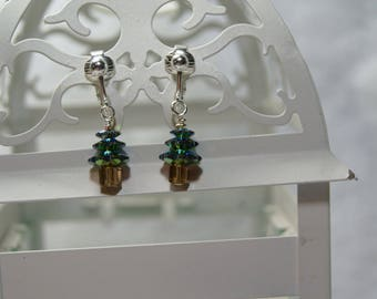 "Dainty ""O Christmas Tree"" Earrings"