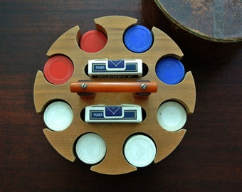 CHIPPY Vintage 1930's Poker Carousel with Bakelite Handle