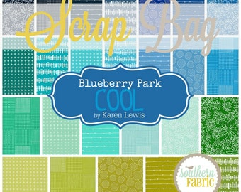 Blueberry Park - Cool - Scrap Bag Quilt Fabric by Karen Lewis for Robert Kaufman