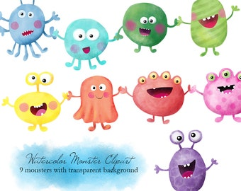 NEW!! Cute Monsters Clip Art