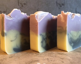 Soap Trio 3 Pack Sampler of Handmade Artisan Lye Soap from Farmers Soapery Cold Process Olive Oil & Shea Butter Soap