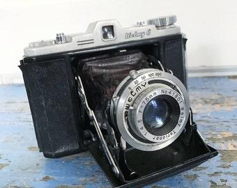 Vintage 1960s Folding Accordion Bellow Camera, Japanese Welmy 6 Camera, Display Camera Prop