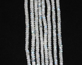 Moonstone, Moonstone Rondelle, Smooth Rondelle, Natural Stone, Semi Precious, Moonstone Bead, Gemstone Bead, Full Strand, 6mm, AdrianasBeads