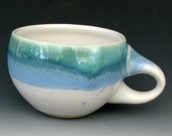 STONEWARE CUP #9 - Coffee Cup - Ceramic Cup - Blue Cup - Tea Cup - Cappuccino Cup - Latte Cup - Handmade Cup - Studio Pottery