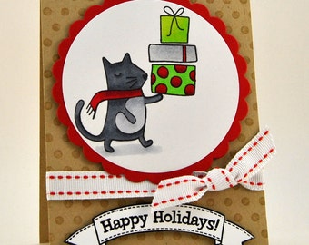 Christmas Mouse Holiday Card