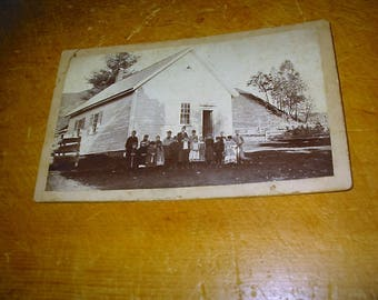 Antique Vermont Schoolhouse Cabinet Photograph Old One Room School Photo Berlin Vermont Old School Photo Antique School Sawyer Photograph