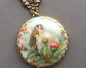 Bird Necklace - Bird Pendant - Bird Jewelry - Glass Necklace - Nature Jewelry - Glass Pendant - Gifts for Her - Spring Jewelry - Bird Lover