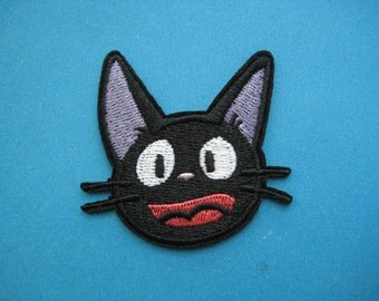 So CUTE~ Iron-on Embroidered Patch Kiki's Cat Jiji 1.9inch