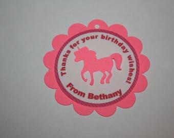12 Unicorn Die Cut - Favor Tags - Gift Tags - Thank you Tags