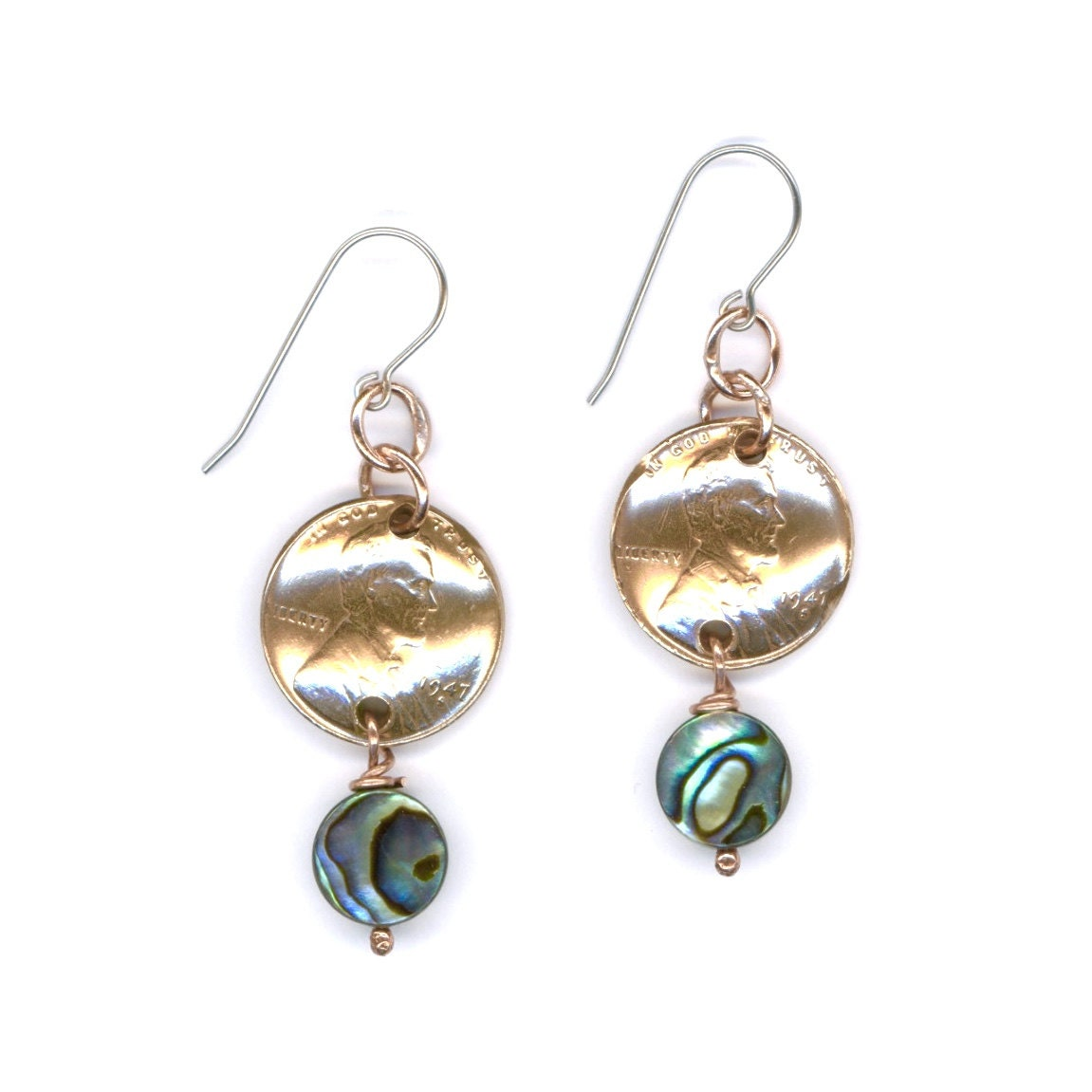 70th Birthday Gift Jewelry 1947 Penny Earrings 70th Jewelry