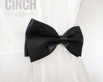 Black Bow Tie Cinch Clip Sister