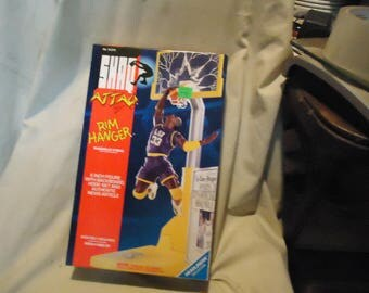 Vintage 1993 Shaq Attaq Rim Hanger LSU Shaquille O'Neal Basketball Action Figure by Kenner In Sealed Box, collectable