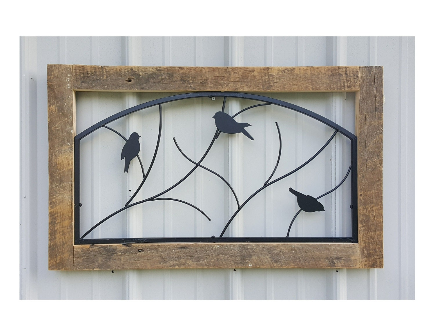 Rustic Wall Hanging Reclaimed Barnwood Metal Wall Decor