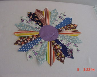 30 Vintage Hand Stitched Quilt Blocks Unfinished Quilt  17 - 453