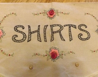 Hand Embroidered Shirt Travel Envelope
