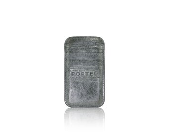 iPhone 6, iPhone 7 RETROMODERN aged leather pocket - - GRAY
