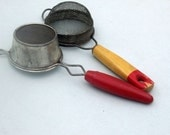 Vintage Metal Sifters with Wooden Handles Rustic kitchen country kitchen Food Photography Prop Decor