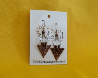 If I were you I'd wanna be me too copper earrings (Style #401)