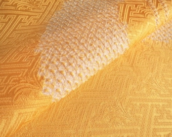 Japanese pure silk cloth from Kyoto Yellow No.41-10